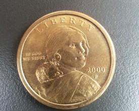 Sacagewa on the U.S. dollar coin. | Credit: Priya Chhaya