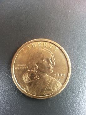Sacagewa on the U.S. dollar coin. | Credit: Priya Chhaya