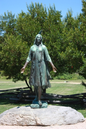 Pocahontas statue at Jamestown, VA. | Credit: Kristina Downs
